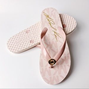 New Michael Kors PVC Jet Set Flip Flops 10